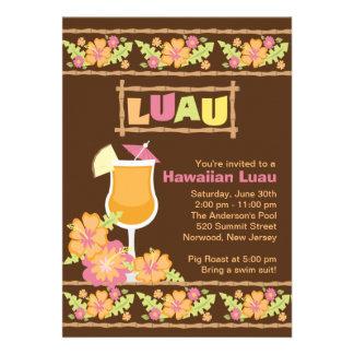 Partido havaiano de Luau das bebidas tropicais à m