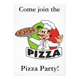 partido invitation2 da pizza convites personalizado