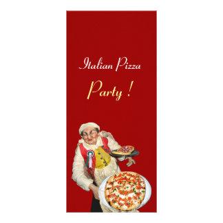 PARTIDO ITALIANO da PIZZA, PIZARIA, vermelho, 10.16 X 22.86cm Panfleto