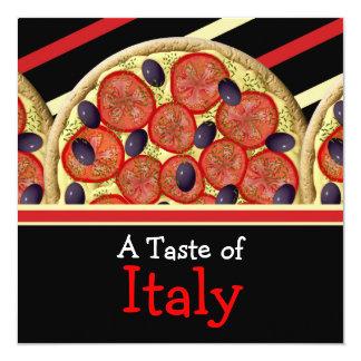 Partido italiano de Italia da pizza Convite Quadrado 13.35 X 13.35cm