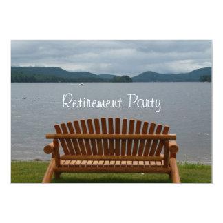 Partido-Lakeview da aposentadoria com banco de Convite 12.7 X 17.78cm