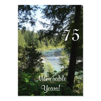 Partido-Lakeview memorável de 75 anos/aniversário Convite 12.7 X 17.78cm