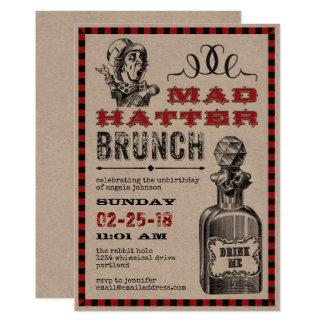 Partido louco da refeição matinal do Hatter Convite 12.7 X 17.78cm
