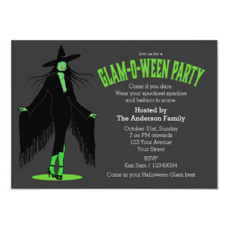 Partido mau do encanto da bruxa do Dia das Bruxas Convites Personalizado