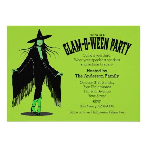Partido mau do encanto da bruxa do Dia das Bruxas Convite