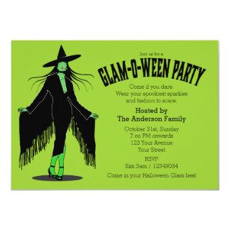 Partido mau do encanto da bruxa do Dia das Bruxas Convite 11.30 X 15.87cm