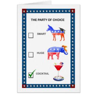 Partido no convite de festas da eleição