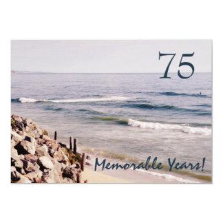 Partido-Oceano memorável de 75 anos/aniversário Convite 12.7 X 17.78cm