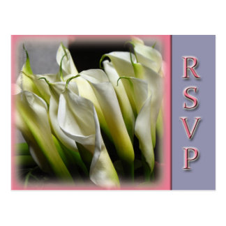 Partido ou cartão wedding de RSVP - lírios de