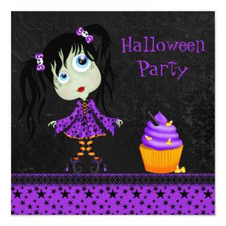 Partido pequeno bonito do Dia das Bruxas do Ghoul Convite Quadrado 13.35 X 13.35cm