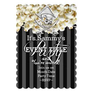 Partido personalizado do pirata convite 12.7 x 17.78cm