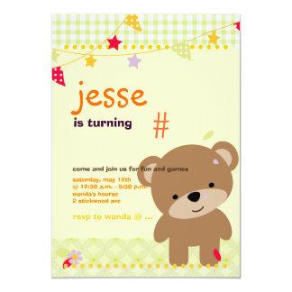 Partido personalizado minúsculo do urso de ursinho convite personalizado