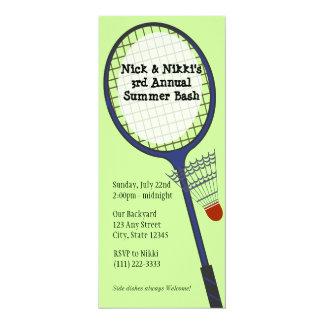 Partido/piquenique do Badminton Convite 10.16 X 23.49cm