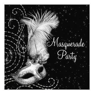 Partido preto e branco elegante do mascarada