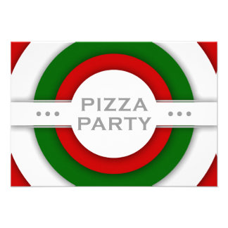 partido retro da PIZZA Convites