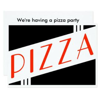 partido retro da pizza convite 12.7 x 17.78cm