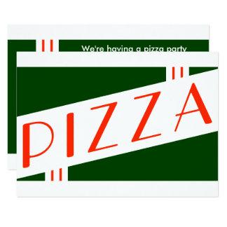 partido retro da pizza convite 8.89 x 12.7cm