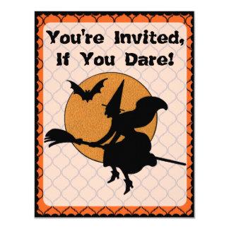 Partido retro do Dia das Bruxas dos anos 60 Convite 10.79 X 13.97cm