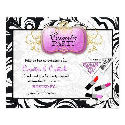 partido roxo do cosmético da placa 311-Lavish Panfleto Personalizados