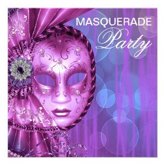 Partido roxo do mascarada convites personalizado