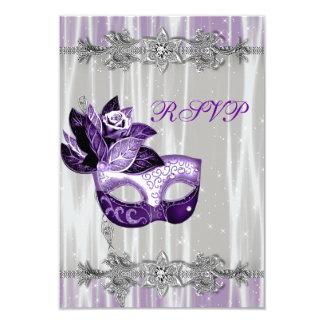 Partido roxo RSVP do mascarada da faísca roxa de Convite 8.89 X 12.7cm