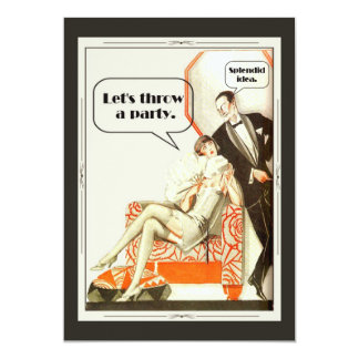 Partido simplesmente fabuloso do art deco convite 12.7 x 17.78cm