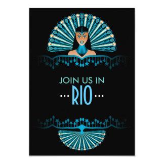 Partido temático de Rio de Janeiro personalizado Convite 12.7 X 17.78cm