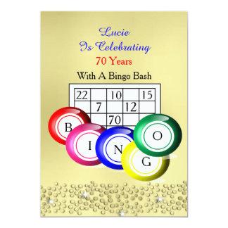 Partido temático do Bingo colorido do divertimento Convite Personalizado