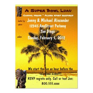 Partido tropical de Luau do tema Convite 16.51 X 22.22cm