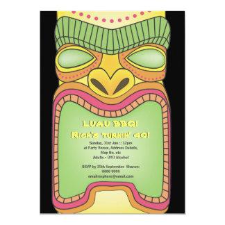 Partido tropical havaiano da praia do tema de Tiki Convites Personalizado