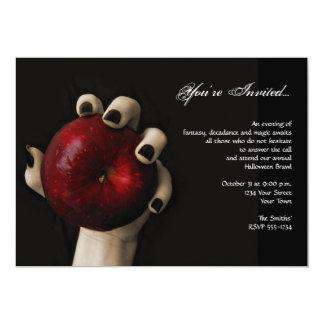 Partido vermelho de Apple o Dia das Bruxas da Convite 12.7 X 17.78cm