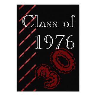 Partido vermelho e preto da reunião de classe das convites personalizado
