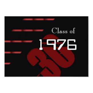 Partido vermelho e preto da reunião de classe das convite personalizados
