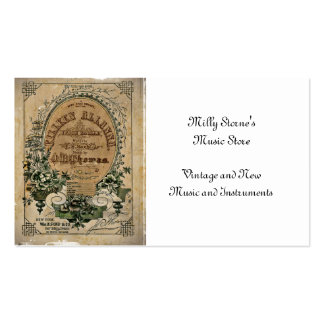 Partitura irlandesa da balada cartão de visita