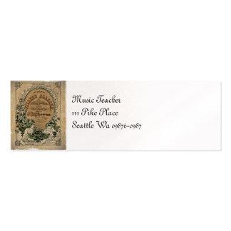 Partitura irlandesa da balada cartão de visita skinny