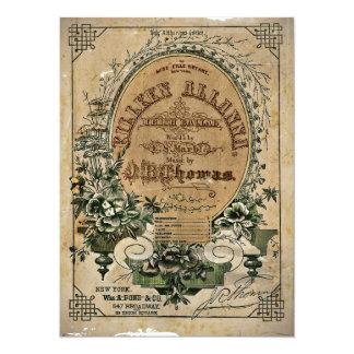Partitura irlandesa da balada convite 13.97 x 19.05cm