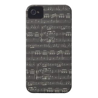 Partitura preto e branco capinhas iPhone 4