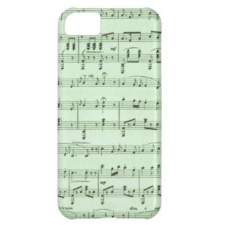 Partitura verde capa para iPhone 5C