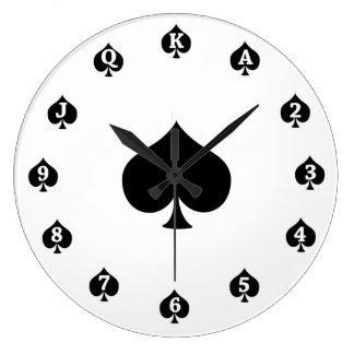 Pás do póquer relógio de parede
