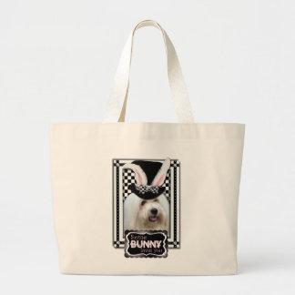Páscoa - algum coelho o ama - algodão de Tulear Sacola Tote Jumbo