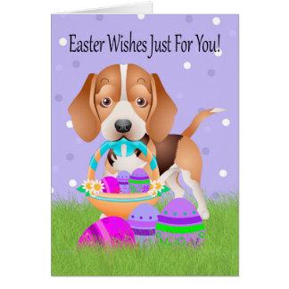 Páscoa com lebreiro e os ovos da páscoa pequenos cartão comemorativo