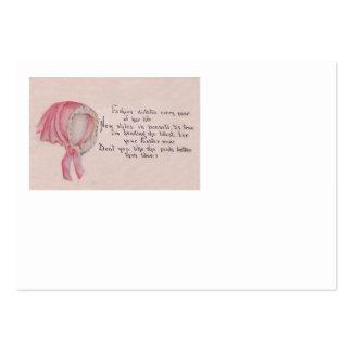 Páscoa cor-de-rosa da capota modelo cartao de visita