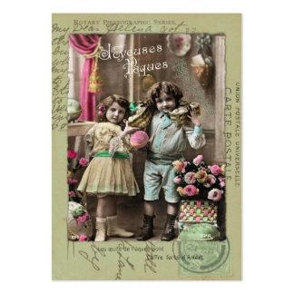 Páscoa de Joyeuses Pâques Modelos Cartoes De Visitas