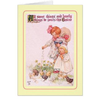 Páscoa do vintage cartões