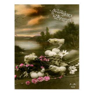 Páscoa do vintage cartão postal