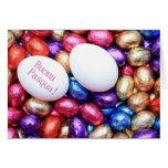 Páscoa dos ovos de chocolate que cumprimenta o ita cartões