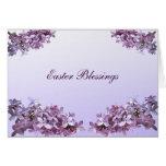 Páscoa elegante dos Lilacs Cartão