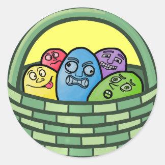 Páscoa engraçada do Basketcase Adesivo