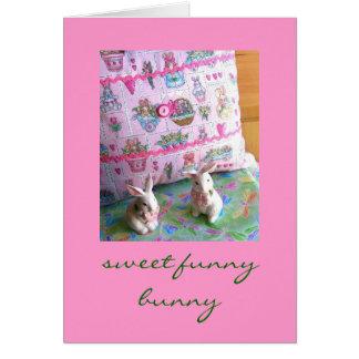 Páscoa engraçada doce e cartão do coelho