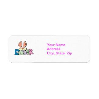 Páscoa - etiquetas de endereço etiqueta endereço de retorno